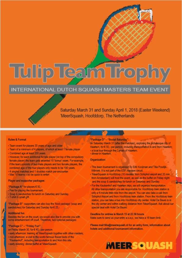Tulip team trophy @ Meersquash | Hoofddorp | Noord-Holland | Nederland