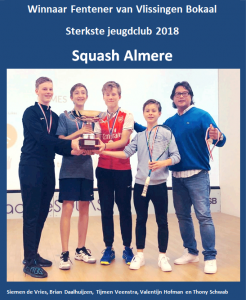 Squash Almere jeugd wint Fentener bokaal