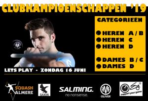 Clubkampioenschappen squash Almere 2019 @ Squash Almere